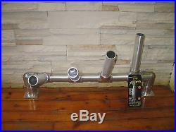 1 Quad Aluminum Adjustable Rod Holders & 1 Michigan Stinger Cisco Spoon