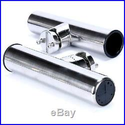 12PCS Stainless Clamp on Fishing Rod Holders for Rails 7/8'' to 1'' US FREE SHIP