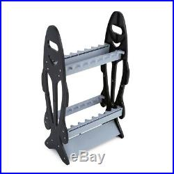 16 Fishing Rods Rack Holder Rest Stand Foldable Fishing Rod Pole Storage Tackle