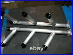 2-Alum HD Triple Tree Rod Holders for track sys & HD End Caps Triple Threat (T)