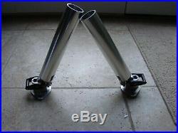 2 Berts Custom Tackle Ratcheting Rod Holder Buff Bright Finish MF 3098