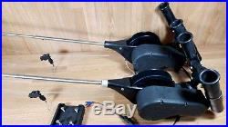 2 Cannon Mini Mag A Electric Downriggers with Extended Booms & Dual Rod Holders