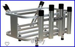 2 Jet Ski Fishing Aluminum Rack 6 Rod Holder. Fits Large Cooler/ Gas Cans/ Gear