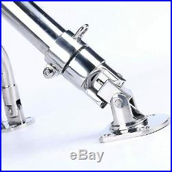 2 PCS Stainless Steel Adjustable Sidekick Base Fishing Outrigger Pole Rod Holder