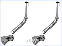 2 Perko Heavy Duty Deck Mount Outrigger Pole Holder 451-002-CHR Chrome Bronze
