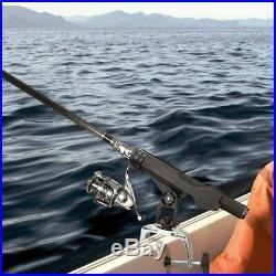2 pcs Fishing Boat Rod pole Holder with 360 Degree Adjustable Large C-Clamp