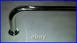 2 stainless steel rod holders rail 915mm 3ft marine grade 316 boat rail 25mm dia