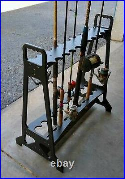 22-Fishing Rod Rack Standing Organizer Holder Floor Stand