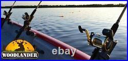 2X Rod Holder for Lund Boat Sport Trak Gunnel System Cannon Rod Holder Installed
