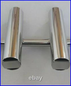 3 TUBE STAINLESS STEEL 316 BOAT FISHING ROD HOLDER (40 mm tube)