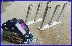 3 per side Aluminum Jet Boat custom weld Polished Fishing Rod Holders NEW