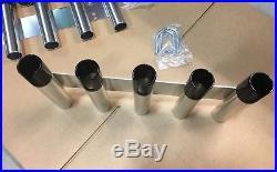 3 sets USED CUSTOM 5-rod Aluminum Fishing Rod Holders DISCOUNT