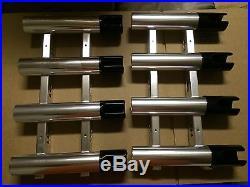 3 sets USED CUSTOM Quad Aluminum Fishing Rod Holders DISCOUNT