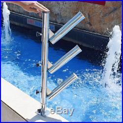 316 Stainless Steel Fishing Rod Holder Tree Adjustable Triple Fits Tracks Superb