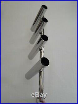 4-TUBE STAINLESS STEEL 316 BOAT FISHING ROD HOLDER (40 mm tube)