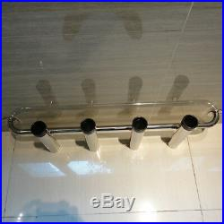 4 Tube 304 Stainless Steel Rocket Launcher Outfitting Boat Fishing Rod Holder