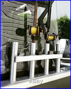 4 per side Aluminum Jet Boat custom weld Polished Fishing Rod Holders brand new