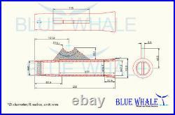 4PCS Al. Flared Weld-On Flared White Vinyl Insert Rod Holder USA BL93113890