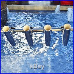 4PCS Tournament Style Stainless Clamp Fishing Rod Holder Rail1-1/4 to 2 Superb