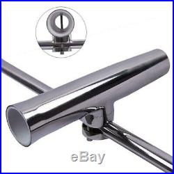 4Pcs Fishing Rod Holder For Boat Truck Marine Stainless Steel Fit 7/8''-1'' Rail