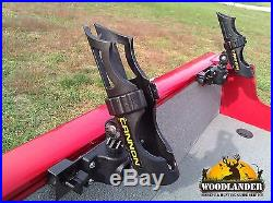 4x ROD HOLDER LUND BOAT SPORT TRACK + CANNON HOLDERS INSTALLED+ FREE SHIPPING