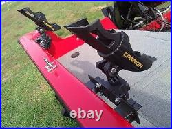 4x ROD HOLDER TRACKER VERSATRACK WITH CANNON ROD HOLDER INSTALLED (4 pack)