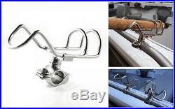 4x STAINLESS STEEL 25mm ROD HOLDER RAIL MOUNT FISHING BOAT 360 DEG. ADJUSTABLE