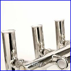5 Fishing Rod Holder Console Boat T Top Rocket Launcher for Rail 1 to 1-1/4