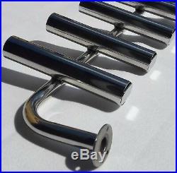 5 TUBE STAINLESS STEEL 316 BOAT FISHING ROD HOLDER (40mm tube)