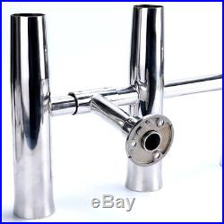 5 Tube Adjustable Stainless Rocket Launcher Rod Holders, Rotated 360 Degree