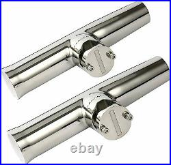 6 PCS Stainless Clamp on Boat Fishing Rod Holder for Rail 1 to 1-1/4 US SHIP