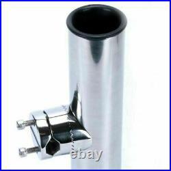 6 Pack Clamp On Fishing Rod Holder For Rails 7/8 to 1 Marine Boat Stainless