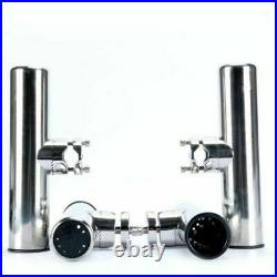 6 Pack Stainless Clamp On Fishing Rod Holder For Rails 7/8 to 1 Marine Boat
