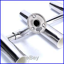 6 Tube Adjustable 304 Stainless Steel Rocket Launcher Rod Holders US FREE SHIP