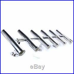6 Tube Adjustable Stainless Rocket Launcher Fishing Rod Holders Rotated 360 Deg