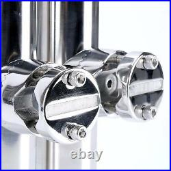 6 pack stainless rail mount clamp on fishing rod holder for rails 7/8 to 1 ESA