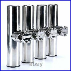 8 PCS Stainless Steel Clamp On Fishing Rod Holder for Rail 7/8 to 1 Rail Mount