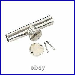 8 Pack Stainless Clamp on Boat Marine Fishing Rod Holder for Rails 1-1/4 to 2