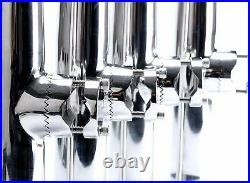 8PCS Stainless Clamp on Fishing Rod Holder for Rail 1 to 1-1/4 Boat Rod Holder