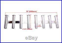 AISI 316 Stainless Steel 8 Link Fishing Rod Holder 8 Tube Marine Boat Rod Pod