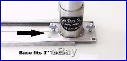Adjustable Horizontal Twin Rod Holder. Aluminum Rod Holders High Seas Gear New
