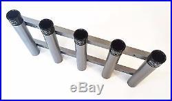 Aluminum Rod Storage Holder 5 with protective end caps. High Seas Gear Rod Racks