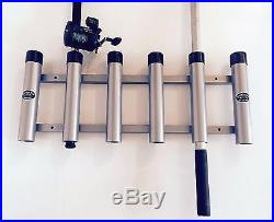 Aluminum Rod Storage Holder 6 with protective end caps. High Seas Gear Rod Racks
