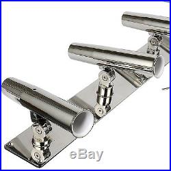 Amarine made Stainless Steel 5 Rod Holder Angle Adjustable Rod Holders Fishing
