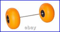 Angler 334 Fishing Poly Wheel 15.5 x 7.5 Large Cart Axle Mounting Hardware Kit