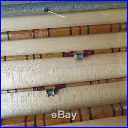 Antique Bamboo fishing rod with Fluted fishing guides and holder (lot#11296)