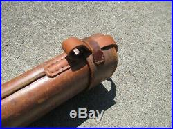 Antique Leather Unknown Maker Fishing Rod Holder Case