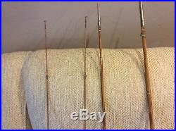 Antique Split Bamboo Fly Rod With Holder