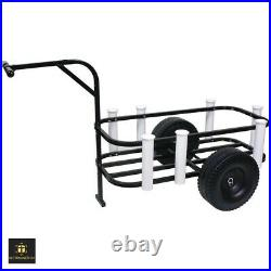 Beach Cart For Sand Pier Fishing Surf Buggy All Terrain Wagon Cooler Big Wheels