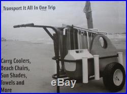 Beach Fishing Carts Caddy Surf Boat Liner Pier Cooler PVC Rod Holder Runner Rack